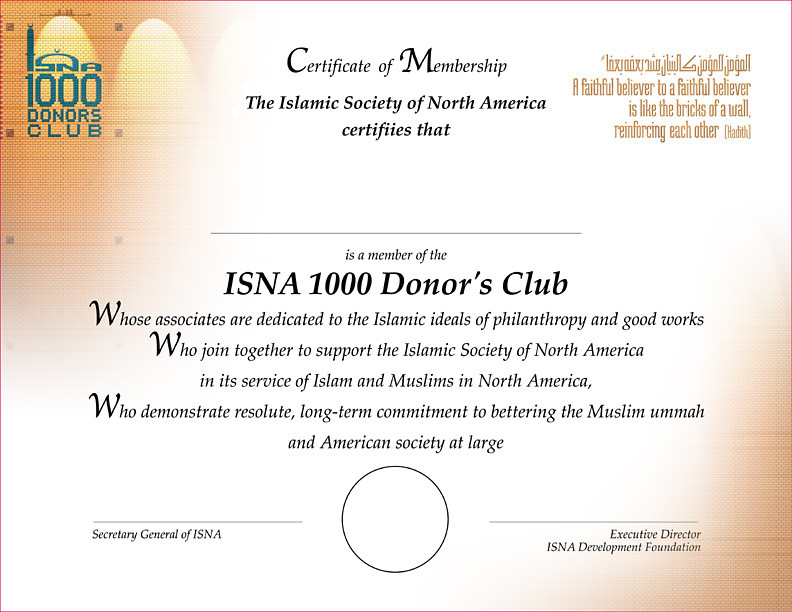 Isna1000donorsclubcertificatecardml
